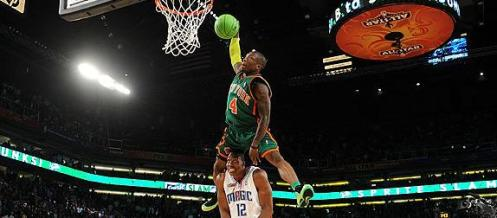 To add some entertaining theatrics to last night s high-flying NBA Dunk  Competition in Phoenix a73039a43f71